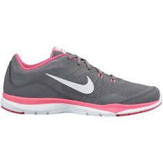 Nike Flex Trainer 5 Womens Training Shoes ($60) ❤ liked on Polyvore featuring shoes, athletic shoes, sneakers, shoess, nike, rubber sole shoes, tenny shoes, nike athletic shoes y light weight shoes
