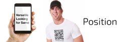 The QR Code T-Shirt for #GayTops, #GayBottoms or #GayVersatile Men #NewGayCode