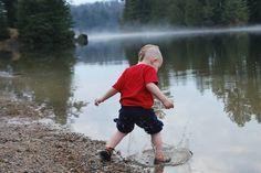 Having fun at Tea Lake, Algonquin Park