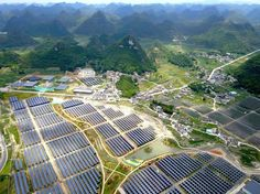 While Trump pretends to bring back mining jobs, China is building 100 panda-shaped solar farms  While Donald Trump pretends to bring back dirty coal jobs, China's future is looking brighter. The Panda Green Energy Group has announced plans to build 100 new solar farms:            A new solar farm is opening up in China, and this one has a twist....