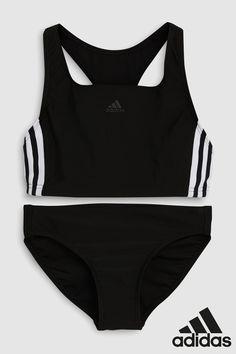 Details about Adidas Girls Bikini Bustier Infinitex Swimsuit Lycra Crop Swim Suit PurplePink show original title