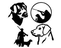 Labrador Retriever Head With Ducks Decals Labrador Retriever - Sporting dog decals