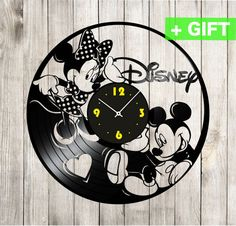 Mickey and Minnie Wall Clock Steamboat Disney by SInteriorsShop