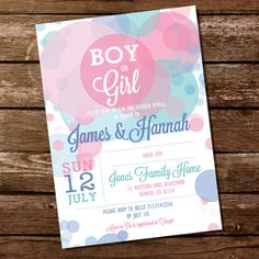 Gender Reveal Invitation  Boy Or Girl  Instant von SunshineParties