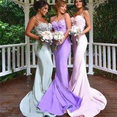 Long Sexy Spaghetti Straps Mermaid Affordable Charming Bridesmaid Prom Dress ,PD0036