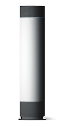 The Soft Wind thermostatic air conditioner is characterised by its tall, narrow design. The silver front is framed by two dark air outlets at the bottom and top, lending it both a visual impact and functional advantages. Id Design, Red Dot Design, Ad Photography, Product Photography, Bathroom Heater, Domestic Appliances, Air Conditioner Heater, Electrical Appliances, Red Dots