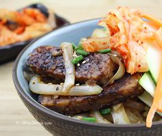 Bulgogi Tempeh with Sautéed Onions.  Perfect for tempeh newbies with its delicious flavors of Korean barbecue.  And it's easy to make.