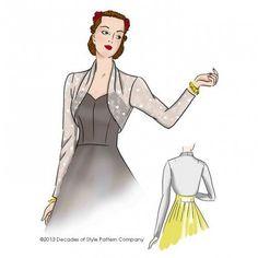 Schnittmuster: 4012 - 1940s Sleek Sleeve Bolero
