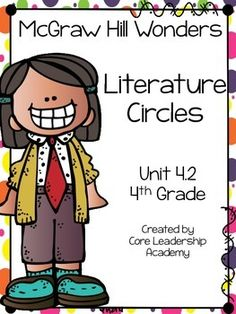 Thinkmark Literature Circle graphic organizer ~ Unit 4.2~There are 4 different levels approaching, on, ell, and advance!  Great for literacy centers! Enjoy!