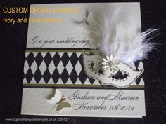 Harlequin Masquerade Wedding Card by CupidandPsyche on Etsy