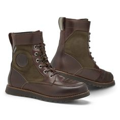 REV'IT Royale H20 Waterproof Boots - Brown / Olive   Motorcycle Boots   FREE UK delivery - The Cafe Racer