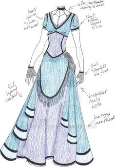 Costumes by ashlilly on DeviantArt Clothing Sketches, Dress Sketches, Fashion Sketches, Dress Drawing, Drawing Clothes, Character Costumes, Character Outfits, Anime Outfits, Cool Outfits