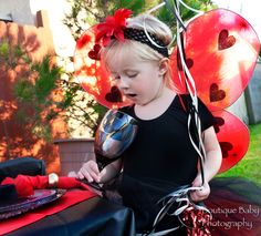 Ladybug Party Kit for 8 complete with costumes and table settings  http://www.hensandchicksparties.com