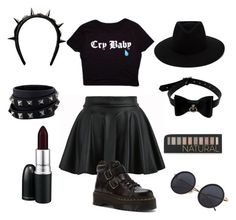 """""""Untitled #148"""" by violenceinsilence ❤ liked on Polyvore featuring Dr. Martens, MAC Cosmetics, Forever 21, rag & bone, Valentino and Givenchy"""