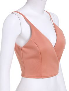 Shop Slip Zipper Crop Orange Cami Top at ROMWE, discover more fashion styles online. Outfits For Teens, Casual Outfits, Cute Outfits, Cami Tops, Dress Sewing Patterns, Clothing Patterns, Blouse Styles, Blouse Designs, Crop Top Outfits