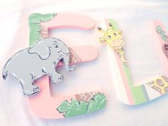 Zoo Nursery Wall Monogram Letters - Monogram Wall Hanging - Wooden Initials - Animal Wall Letters - Monogram Decor - Baby Name Wall Decor Monkey Nursery, Jungle Nursery, Animal Nursery, Nursery Decor, Baby Letters, Nursery Letters, Painting Wooden Letters, Painted Letters, Monogram Wall Hangings