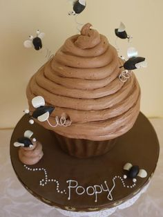 Poop' cake  Cake by ScrummyMummy this has my little brother written all over it!