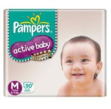 Pampers Active Baby Medium Size Diapers 90 count At Rs.865
