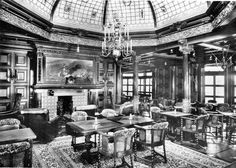 Statendam's first class smoking room