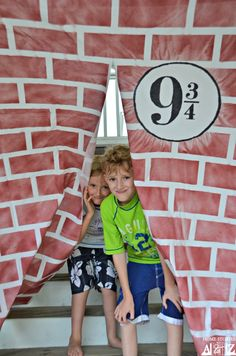 Harry Potter b-day ideas. Make a platform 9 3/4 with a sheet. Other semi-simple decor ideas.