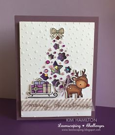 Paper Pawz: Lawnscaping November Blog Hop - Violet! merry christmas