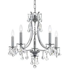 Crystorama Cedar 8 Light Polished Chrome Chandelier
