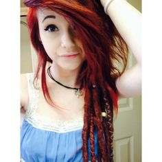 blazed-vibes:  Partial dreads again yay