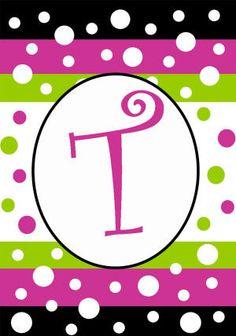 T Monogram Polka Dot Party decorative garden flag - flagsrus