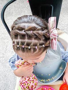 Toddler Hair Dos, Easy Toddler Hairstyles, Easy Little Girl Hairstyles, Girls Hairdos, Cute Little Girl Hairstyles, Baby Girl Hairstyles, Cute Hairstyles, Short Shag Hairstyles, Cabelo Log Bob