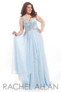 4cf87356a30 One shoulder chiffon gown Plus Size Prom Dresses