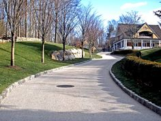 Crushed granite driveway with curbing Gravel Driveway, Driveway Gate, Driveway Ideas, Crushed Granite, Decomposed Granite, Old Fort, Patio Plants, Concrete Garden, Garden Borders