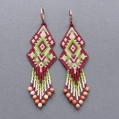 Scheme earrings - brick weaving / brick stitch / peyote earrings pattern