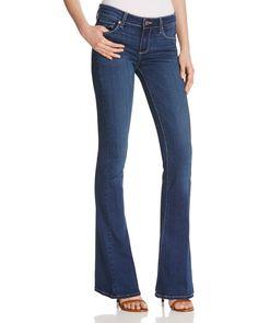 Paige Denim Lou Lou Petite Flare Jeans in Dalia