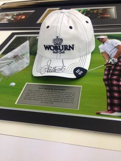 One lucky customer is having this signed Ian Poulter cap framed!