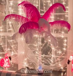 Layered colors feather centerpiece | How To Make A Feather Centerpiece (7 different ways)