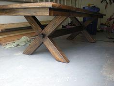 X-legged table - by Slava @ LumberJocks.com ~ woodworking community