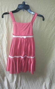Girls Size 7 GYMBOREE Pink Pleated Sleeveless Summer Spring Dress  #GymboreeGirlsDressSize7 #DressyHolidayParty