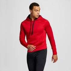 Men's Big & Tall Sizes Tech Fleece Pullover Hoodie Red 3XL - C9 Champion, Size: Xxxl