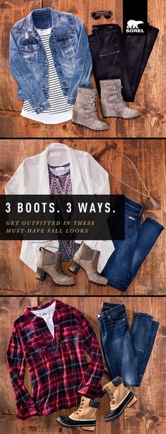 SOREL believes style and functionality go hand in hand. That boots should conquer downpours and pair perfectly with your favorite dress. That flawless construction and craftsmanship are the foundation of great design. Here are 3 ways to kick up the leaves stylishly this season.