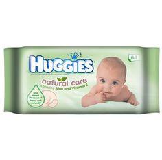 l'emballage de lingettes pour bébé Huggies de 64 unités à seulement 1$ au lieu de 3.97$ !!
