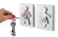 j-me His and Hers Key Holders - Wall Mounted Key Organizer for Couples - Household Key Rack for Entryway, Kitchen and Hallway. A Key Hook That Will Make Sure You Never Lose Your Keys Again! Key Hanger For Wall, Wall Key Holder, Letter Holder, Key Holders, Card Holder, Key Storage, Shoe Storage, Entryway Wall, Key Organizer