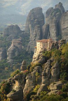 Singular Roussanou monastery - Greece