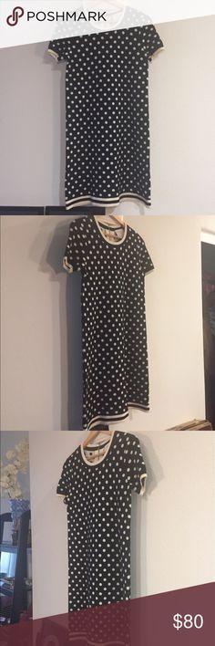 Kate Spade Wool Cashmere Polka Dot Dress Small Lightly worn black and white polka dot Kate Spade dress. Small. Great condition. kate spade Dresses Midi