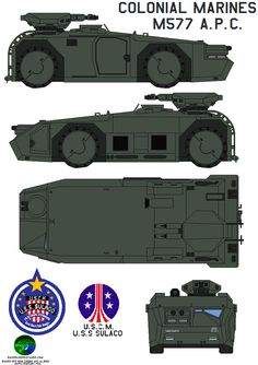It's a light-weight, inexpensive vehicle used by the United States Colonial Marines which can fit into a UD4L Cheyenne Dropship (turret stowed). Description from deviantart.com. I searched for this on bing.com/images
