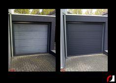 Garagepoort spuiten op locatie vanaf 400 euro excl. BTW! Garagepoort door de zonverweerd (verkrijt) #Spuitwerk #Spuiterij #Interieurspuiterij #Meubelspuiterij #Schadeherstel #Bedrijven #oplocatie #Parkstad #Heuvelland #Limburg #Schade #Bedrijfspand #garage #poort #garagepoort #verkrijt #zonverweerd
