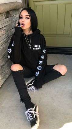 Looks Com Vans Old Skool - 20 looks estilos com from old school - { fave outfits - outfit - looks } - Roupas Ideias Bad Girl Outfits, Skater Girl Outfits, Edgy Outfits, Mode Outfits, Grunge Outfits, Cute Casual Outfits, Black Outfit Grunge, Black Outfits, Dress Outfits