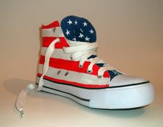 Custom made - Hand Painted Flag Sneakers Painted Sneakers, Chuck Taylor Sneakers, Custom Made, 3 D, Printed Shoes, Flag, Hand Painted, Pairs, Etsy