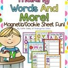 FREE!!  Students will use magnetic letters to spell words, practice beginning sounds, and complete an upper/lowercase letter matching activity.  This is gr...