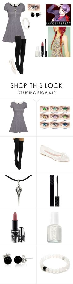 """""""Tokyo ghoul oc #4"""" by gglloyd ❤ liked on Polyvore featuring H&M, Summit by White Mountain, Gucci, MAC Cosmetics, Essie and Bling Jewelry"""
