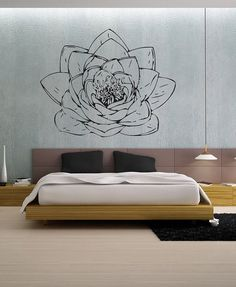 Lotus Blossom - uBer Decals Wall Decal Vinyl Decor Art Sticker Removable Mural Modern A186 on Etsy, $39.95